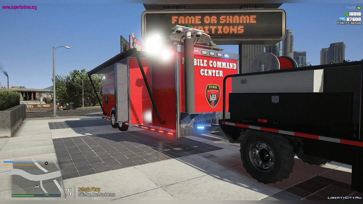 Машина Mobile Command Trailer 1.00 для GTA 5