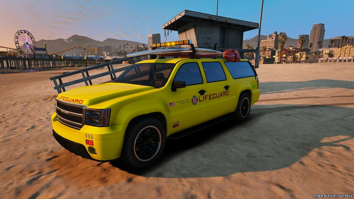 Машина Los Angeles LIFEGUARD vehicle replace 1.0 для GTA 5