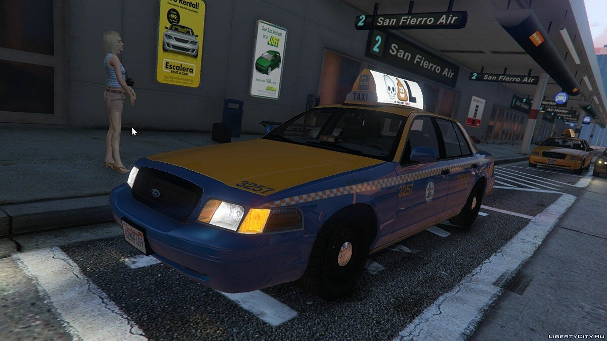 1999 Ford Crown Victoria Taxi для GTA 5 - скриншот #2