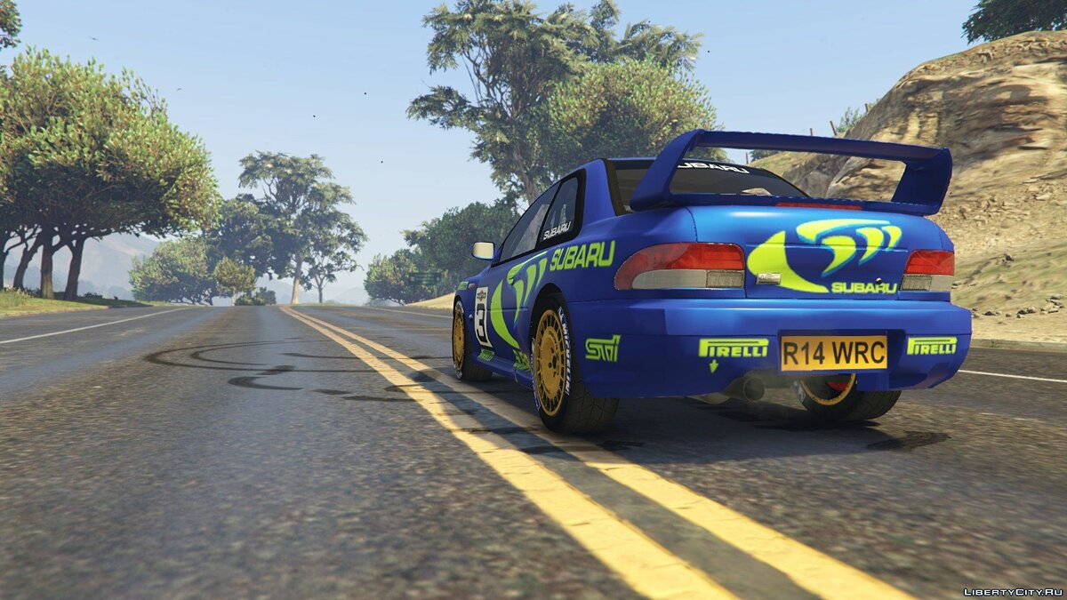 Subaru Impreza WRC 1998 World Rally 2.5 для GTA 5 - скриншот #3