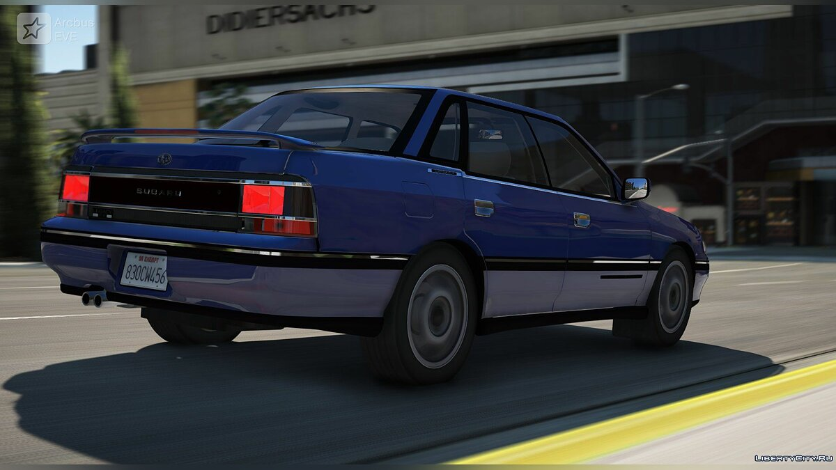 Машина Subaru Subaru Legacy RS Series I BC 1990 [Add-On / Replace / Unlock] 1.0 для GTA 5