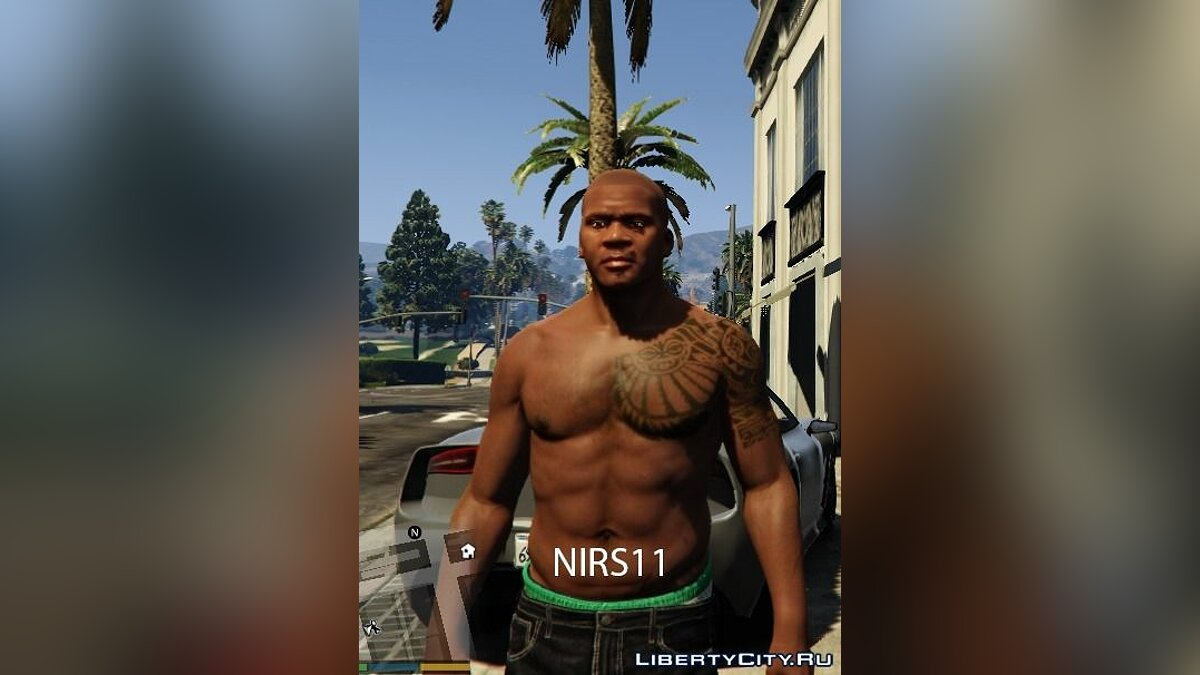 The Rock tatoo for Franklin для GTA 5