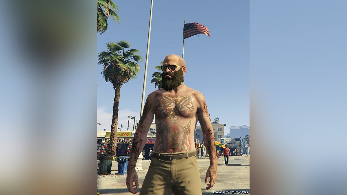 Old school tattoo для Тревора для GTA 5