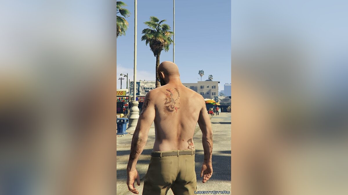 Old school tattoo для Тревора для GTA 5 - скриншот #2