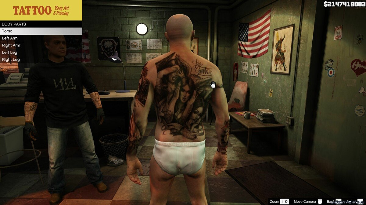 Татуировка Online Tattoos For Trevor для GTA 5