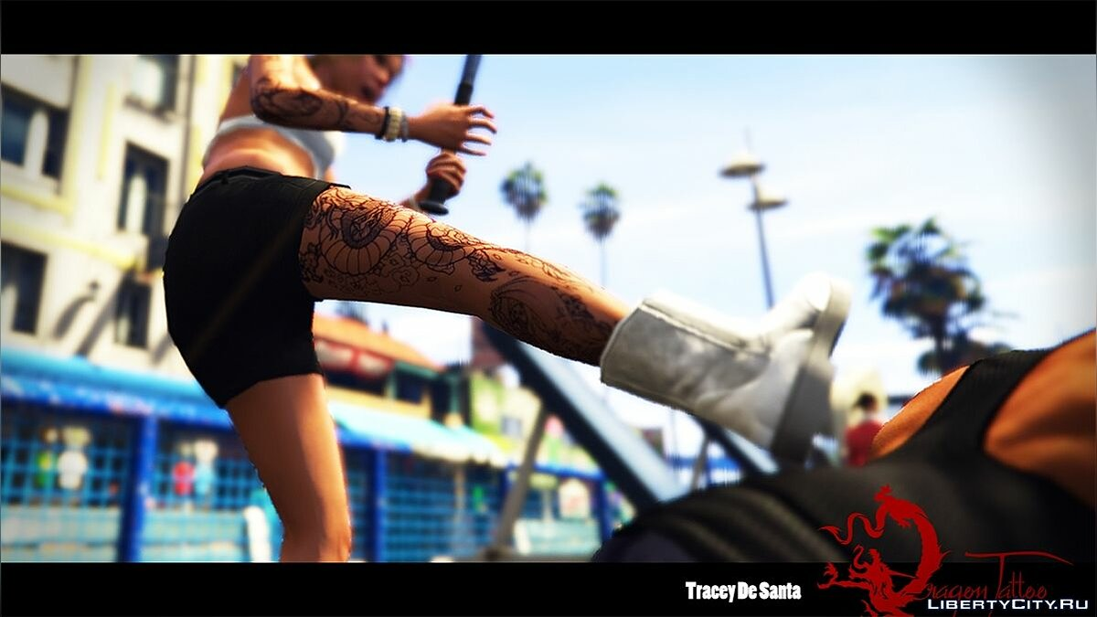 Tracey De Santa - Dragon Tattoo для GTA 5 - скриншот #6