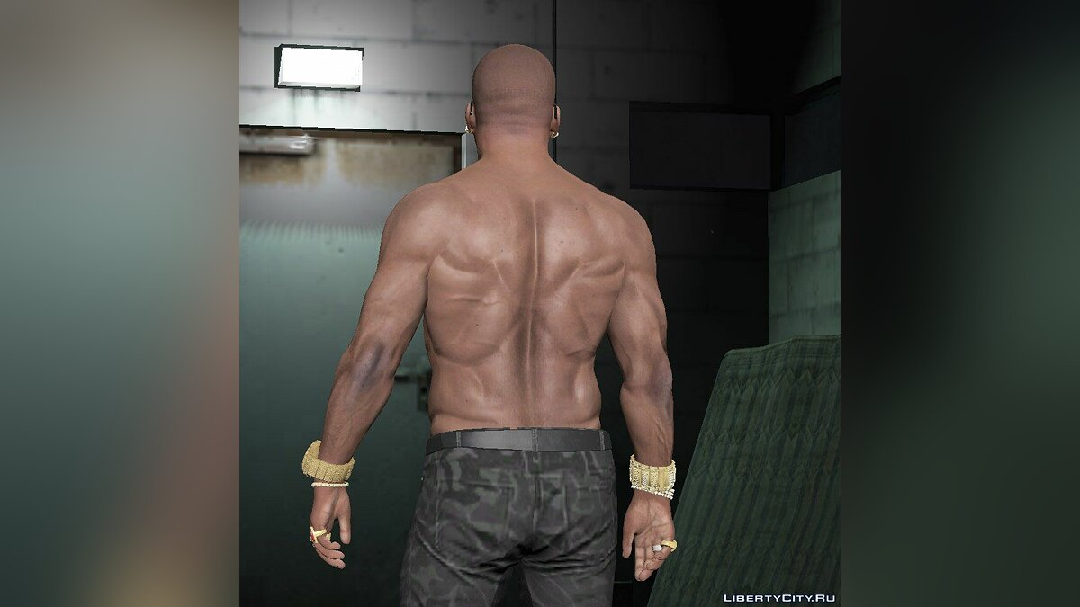 Татуировка Franklin body relief для GTA 5