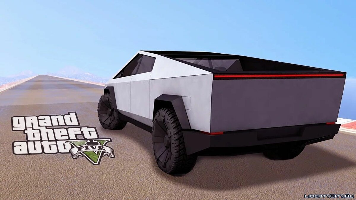 Машина Tesla Tesla Cybertruck [Replace] 1.1 для GTA 5