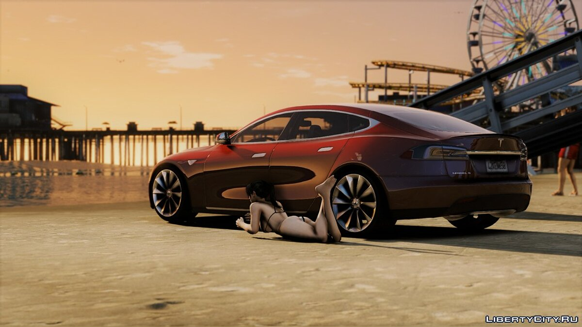 Машина Tesla Tesla Model S Retexture [Add-on] 1.0 для GTA 5