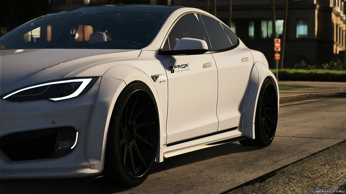 Машина Tesla Tesla Prior design [Add-On/Replace] 1.0 для GTA 5