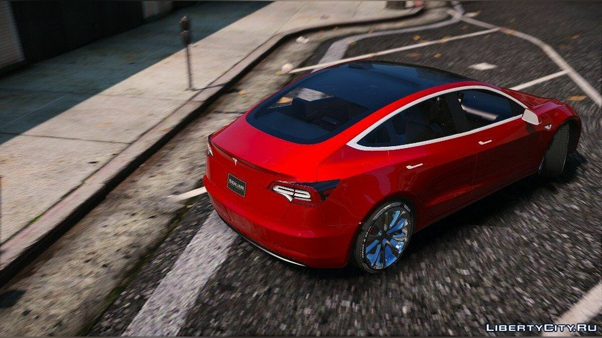 Машина Tesla Tesla Model 3 2018 [Add-On / Replace] 1.0 для GTA 5