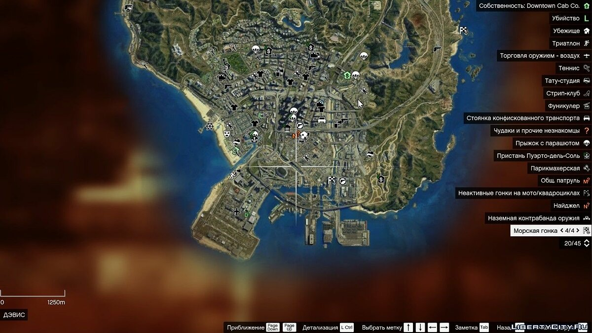 Satellite map HD v2.0 для GTA 5