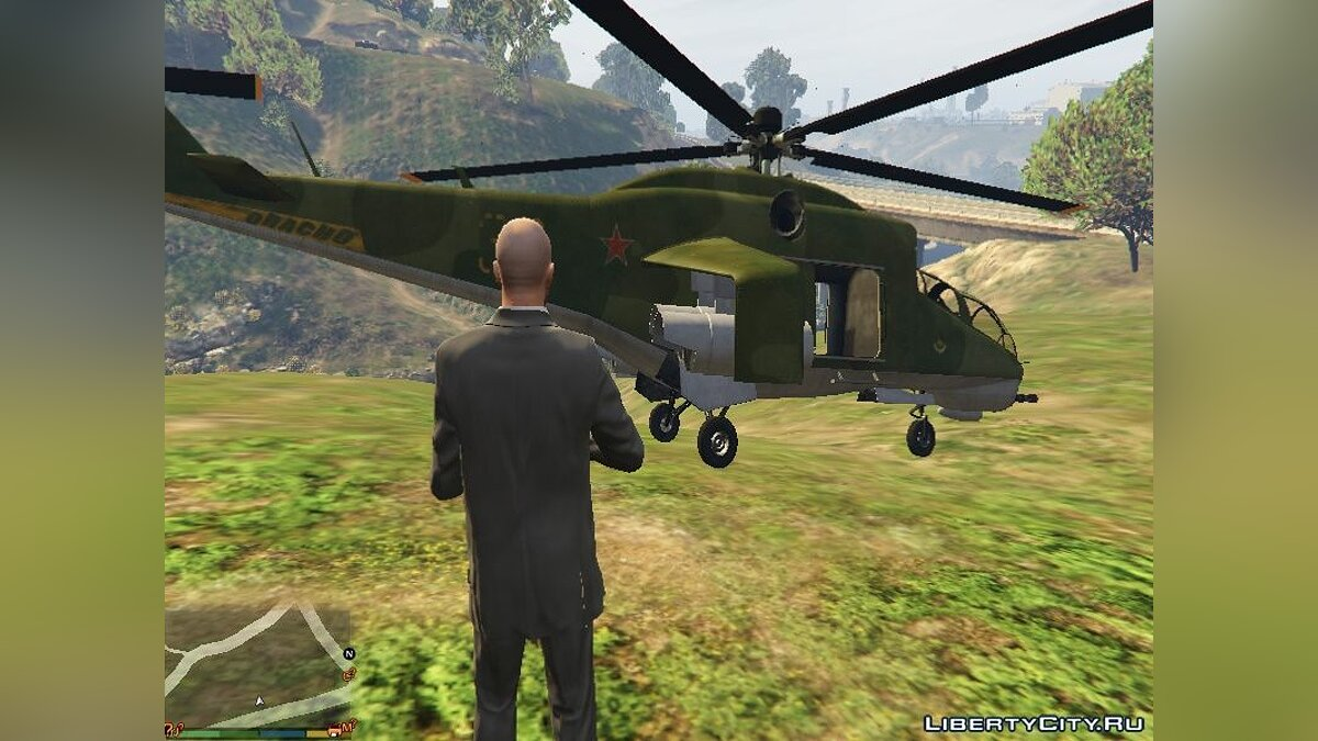 """Russian Mi-24"" texture for Savage для GTA 5"