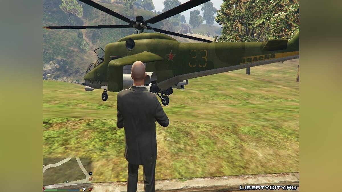 """Russian Mi-24"" texture for Savage для GTA 5 - скриншот #2"