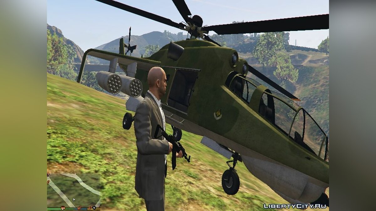 """Russian Mi-24"" texture for Savage для GTA 5 - скриншот #3"