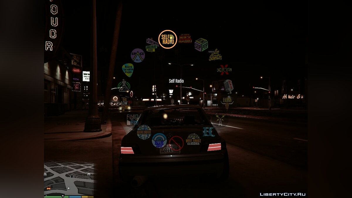 ��екстурный мод Coloured Radio Hud для GTA 5