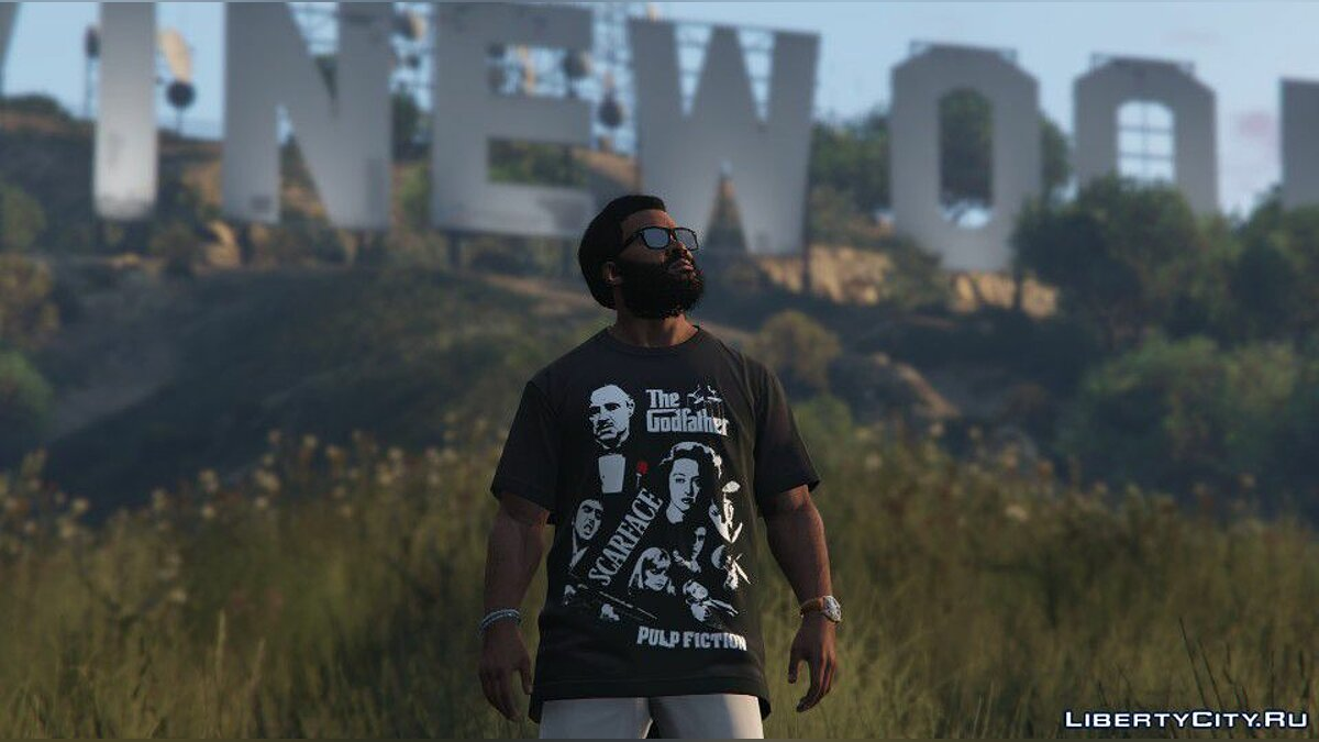 Текстурный мод Gangster Movies T-shirt for Franklin для GTA 5