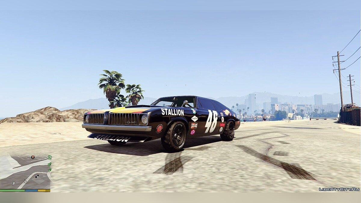 Plymouth Cuda Trans-Am livery for Stallion 4K для GTA 5