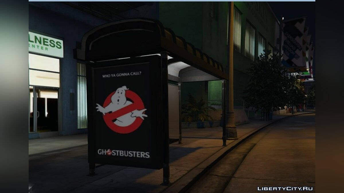 Ghostbusters Movie Poster Bus Station для GTA 5