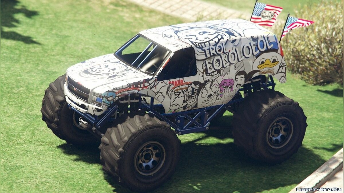 Troller Monster Truck Paintjob для GTA 5 - Картинка #3