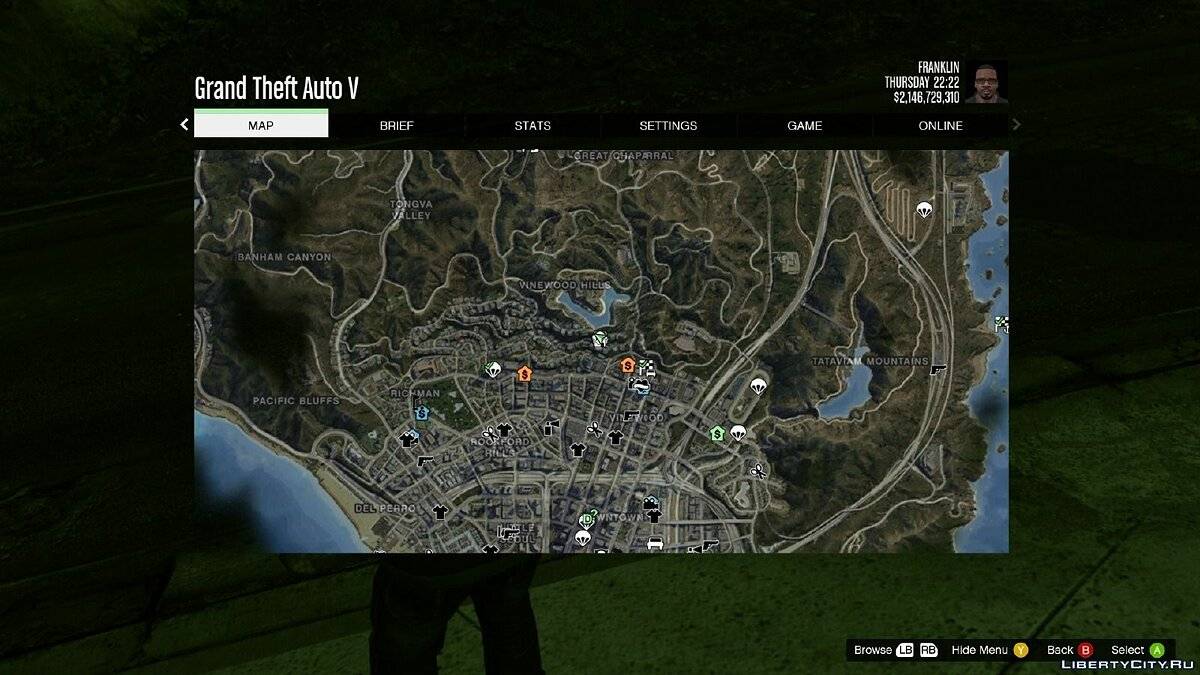 Satellite View Map для GTA 5