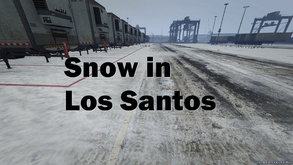 Снег в Лос-Сантосе / Snow in Los Santos 0.1c для GTA 5
