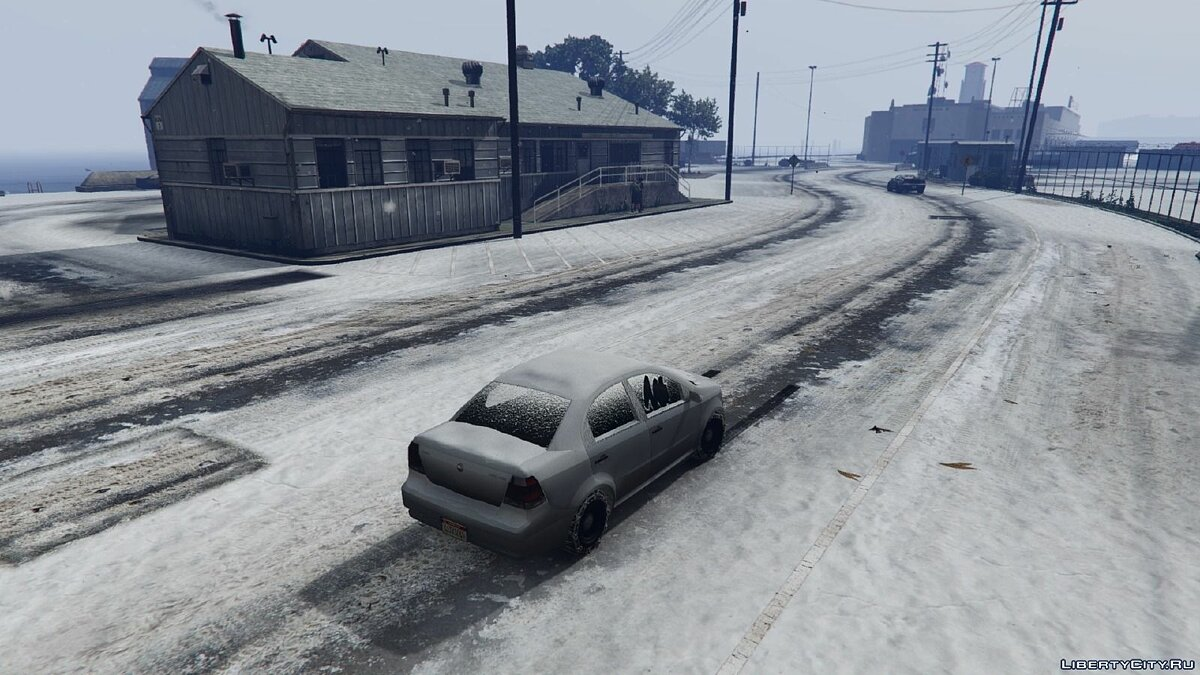 Снег в Лос-Сантосе / Snow in Los Santos 0.1c для GTA 5 - скриншот #2