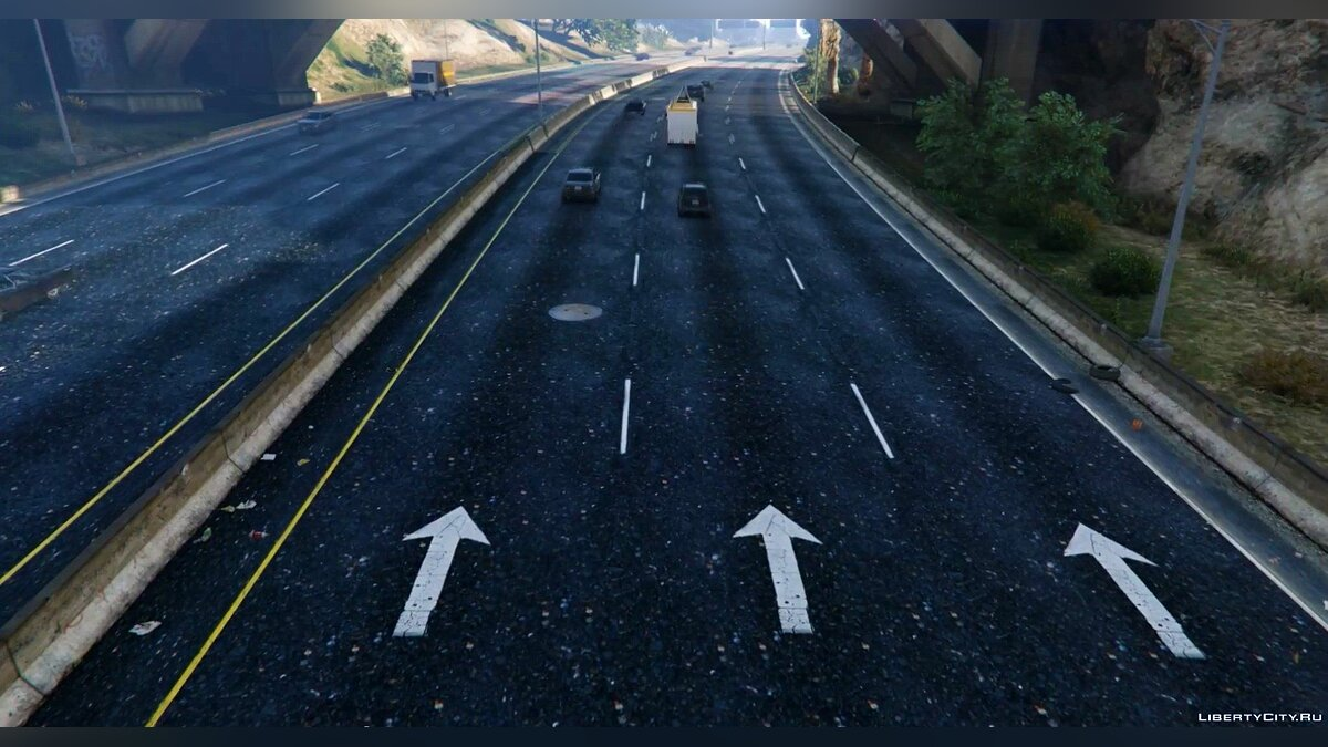 New Road Texture (Highways + Other Areas) 1.0 для GTA 5 - скриншот #2