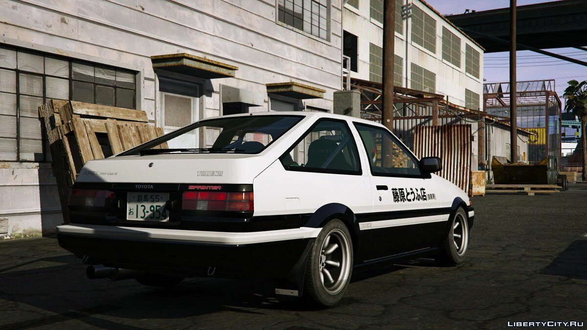 Toyota Trueno (AE86) [Add-On | RHD | lnital D] для GTA 5 - скриншот #2