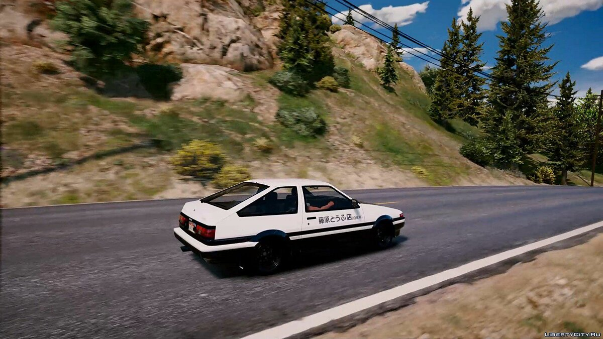 1985 Toyota Sprinter Trueno GT Apex (AE86) [Add-On | Tuning | Template | Livery | RHD] 9.9 для GTA 5 - скриншот #8