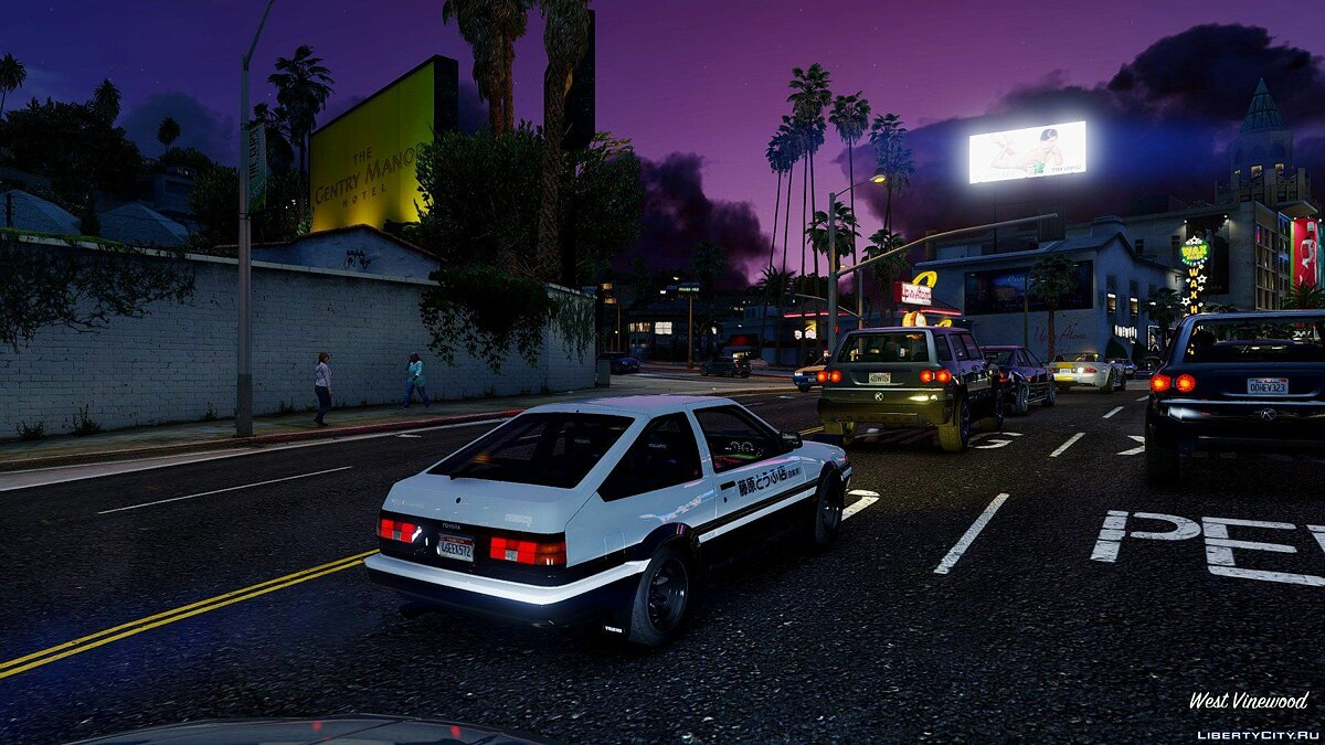 1985 Toyota Sprinter Trueno GT Apex (AE86) [Add-On / Replace | Tuning | Template | Livery | RHD] 9.0 для GTA 5 - скриншот #7