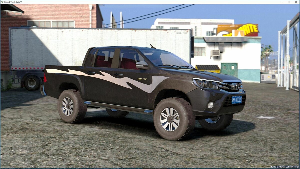 Toyota Hilux 2016 [Add-On|Tuning|Liveries|Template] 1.1 для GTA 5 - скриншот #6