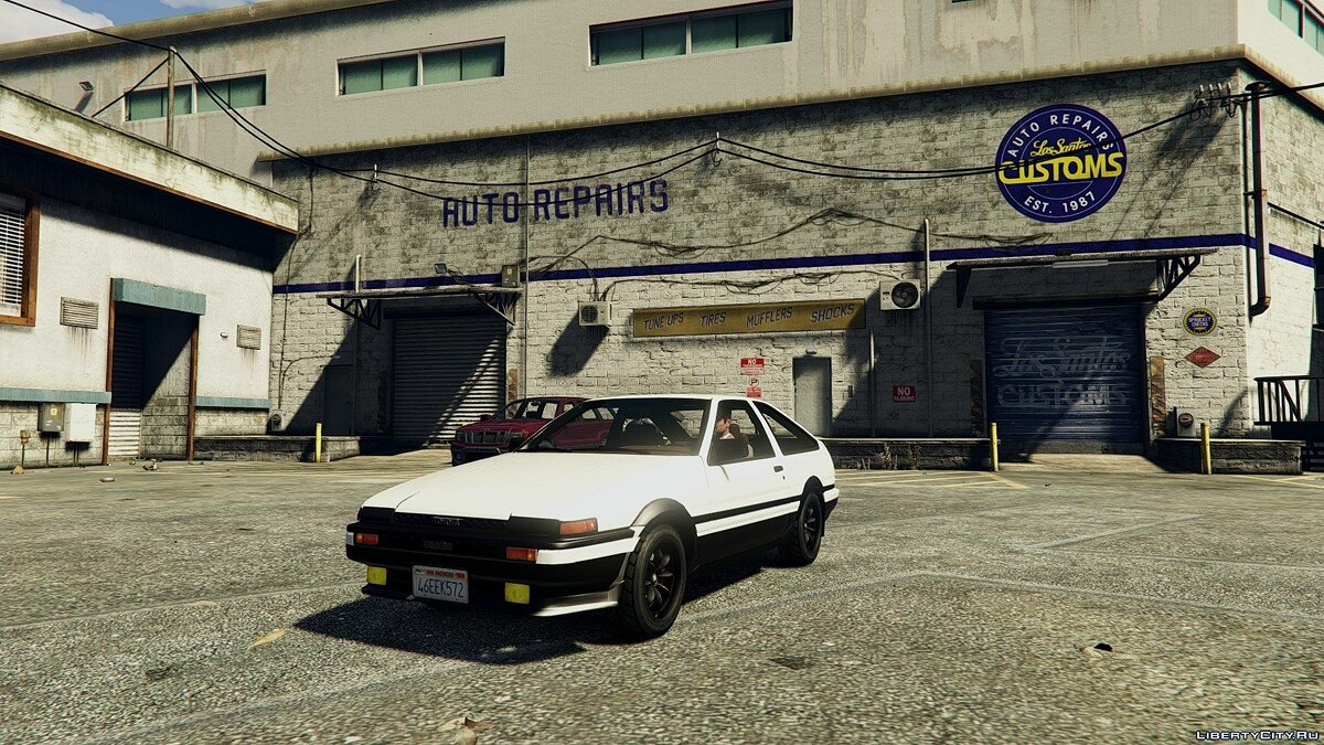 1985 Toyota Sprinter Trueno GT Apex (AE86) [Add-on] 1.6 для GTA 5 - скриншот #2