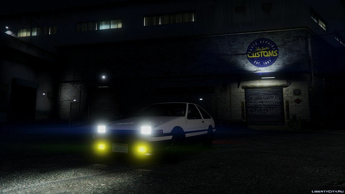 1985 Toyota Sprinter Trueno GT Apex (AE86) [Add-on] 1.6 для GTA 5 - скриншот #4
