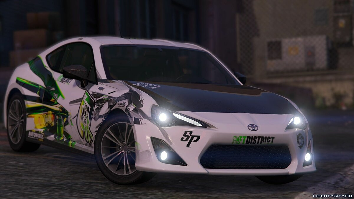 Toyota GT86(ZN6)[Replace|Livery|Template] 1.1 для GTA 5 - скриншот #2