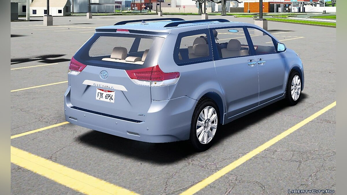 ��ашина Toyota 2011 Toyota Sienna Limited Add-On V1 1.0 для GTA 5