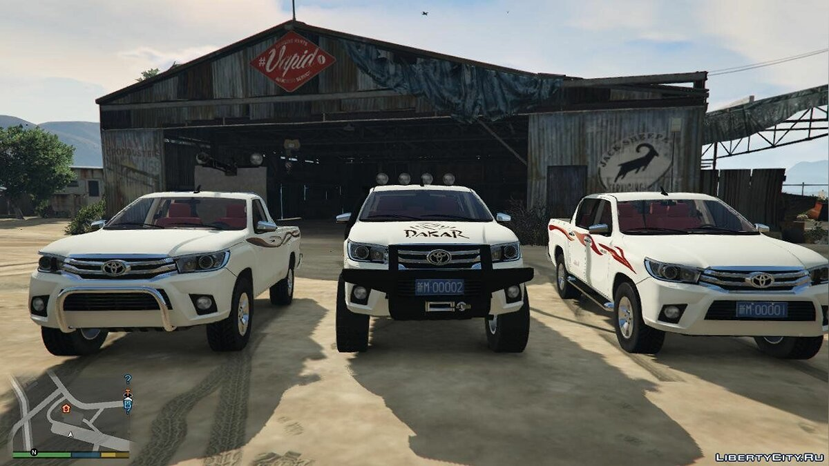 Машина Toyota 2016 Toyota Hilux Pack [Replace] 1.0 для GTA 5