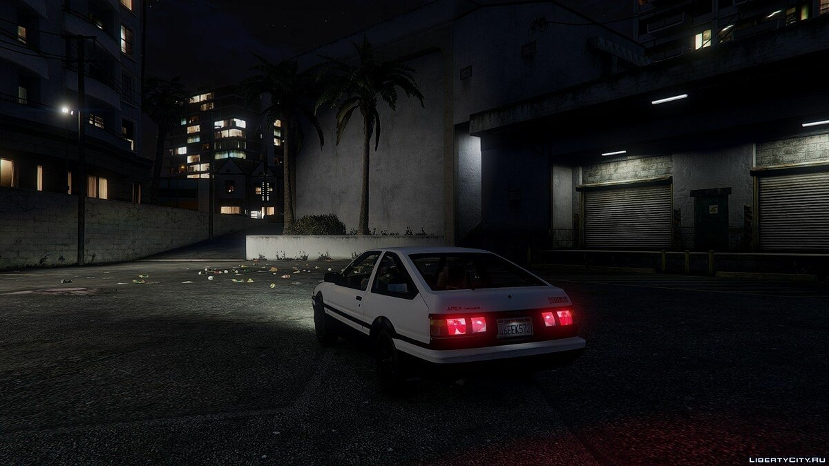 1985 Toyota Sprinter Trueno GT Apex (AE86) [Add-on] для GTA 5 - скриншот #4