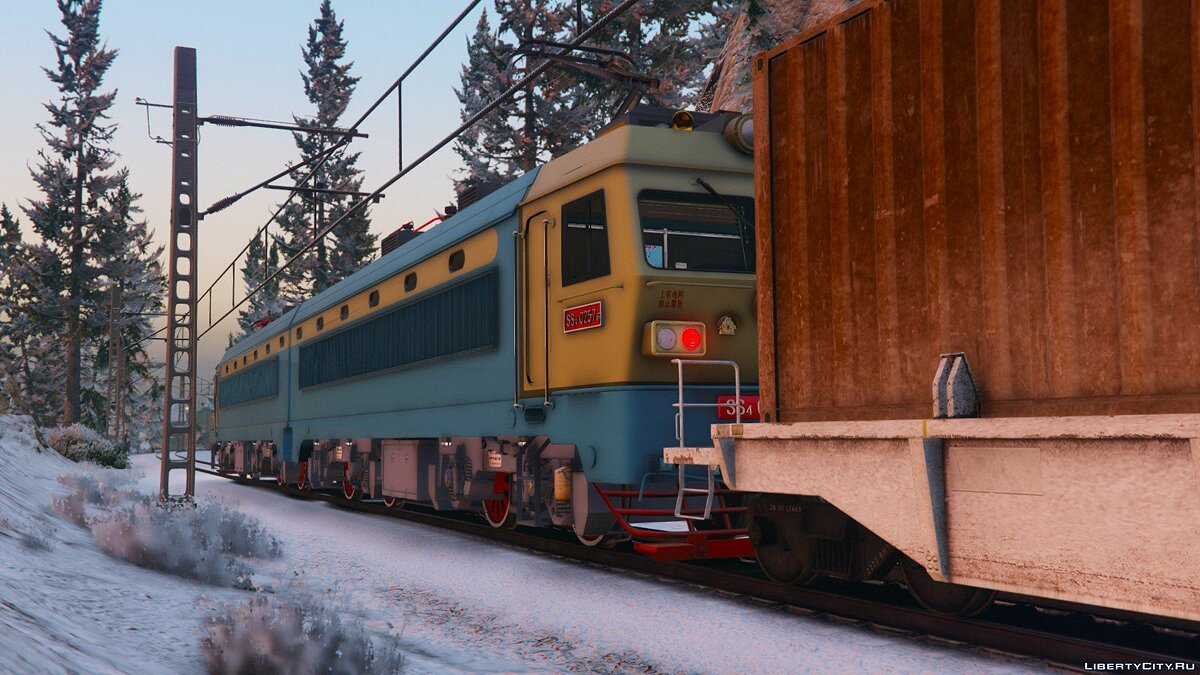 SS4G Electric Locomotive [Add-On] 1.0 для GTA 5 - скриншот #2