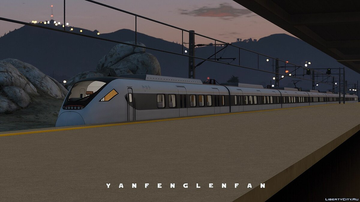 Поезд и трамвай China Railways High-speed train CRH6F EMU для GTA 5
