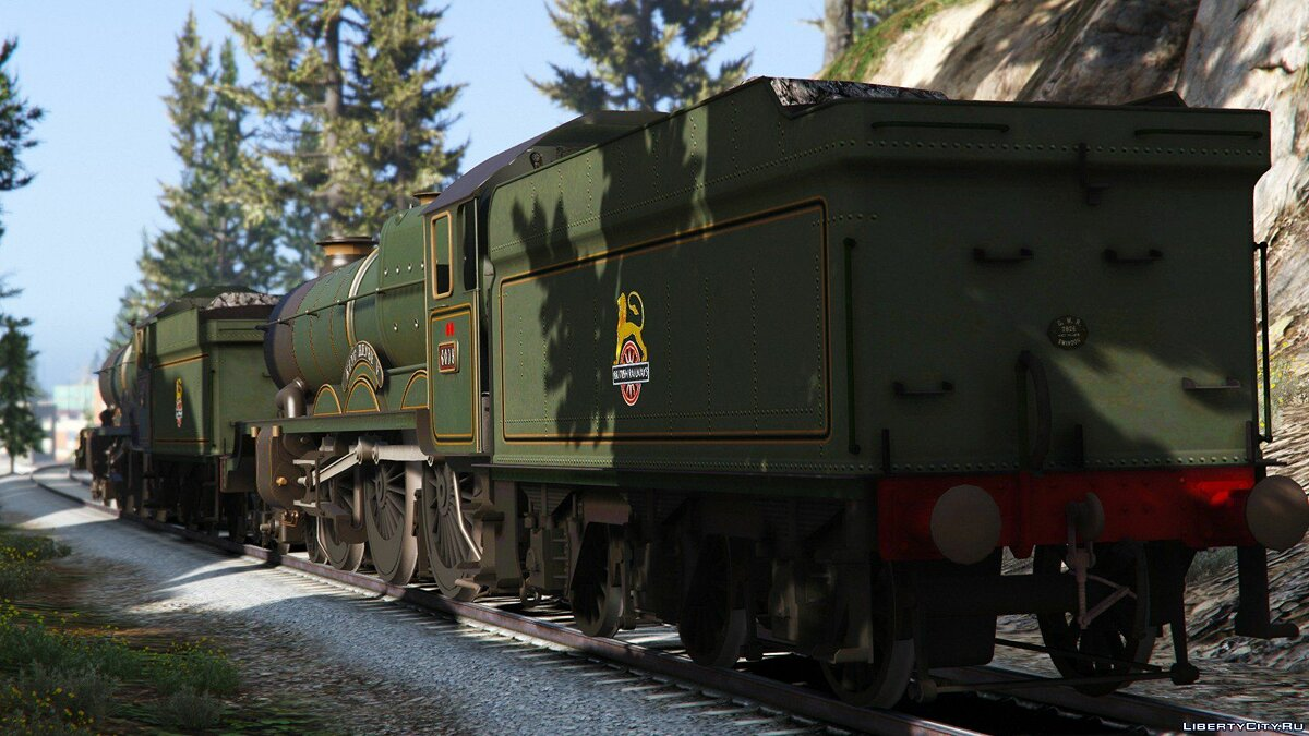Поезд и трамвай GWR King Class Locomotives [Add-On] 1.0 для GTA 5