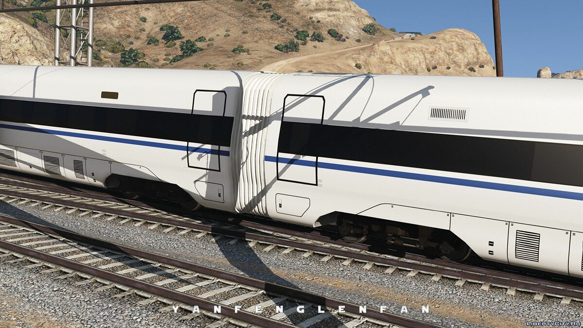 Поезд и трамвай China Railways High-speed train CRH380D EMU для GTA 5
