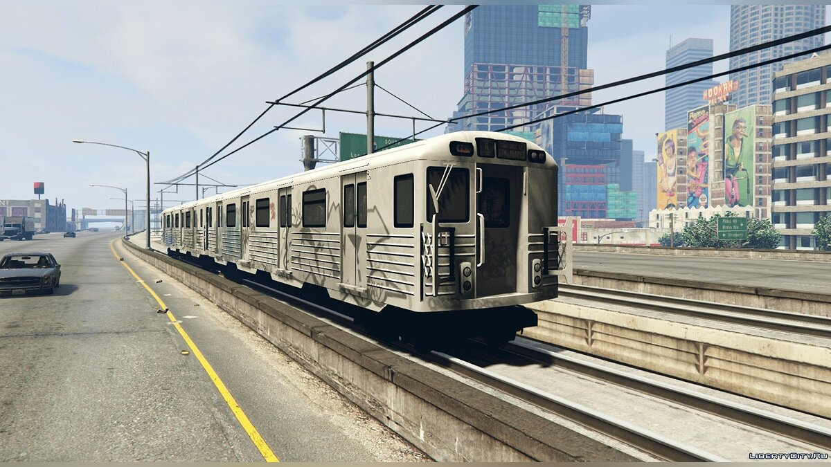 Поезд и трамвай 2008 Liberty City Metro Train [Replace] 1.0 для GTA 5