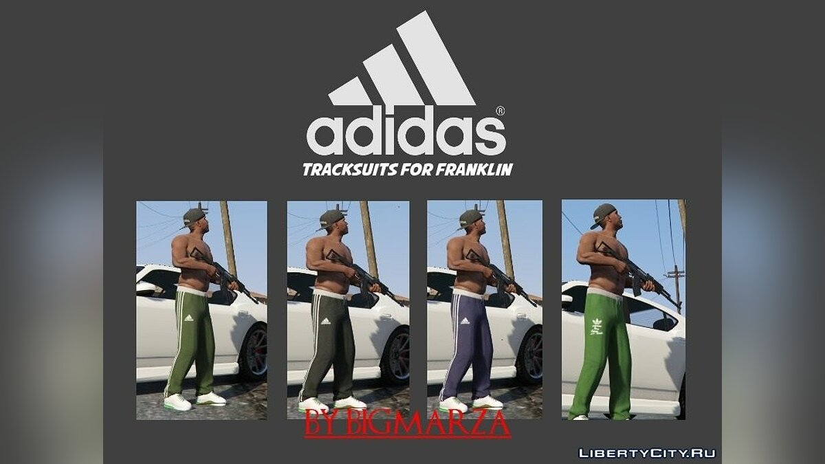 Штаны и шорты Adidas Tracksuit pants pack for Franklin для GTA 5