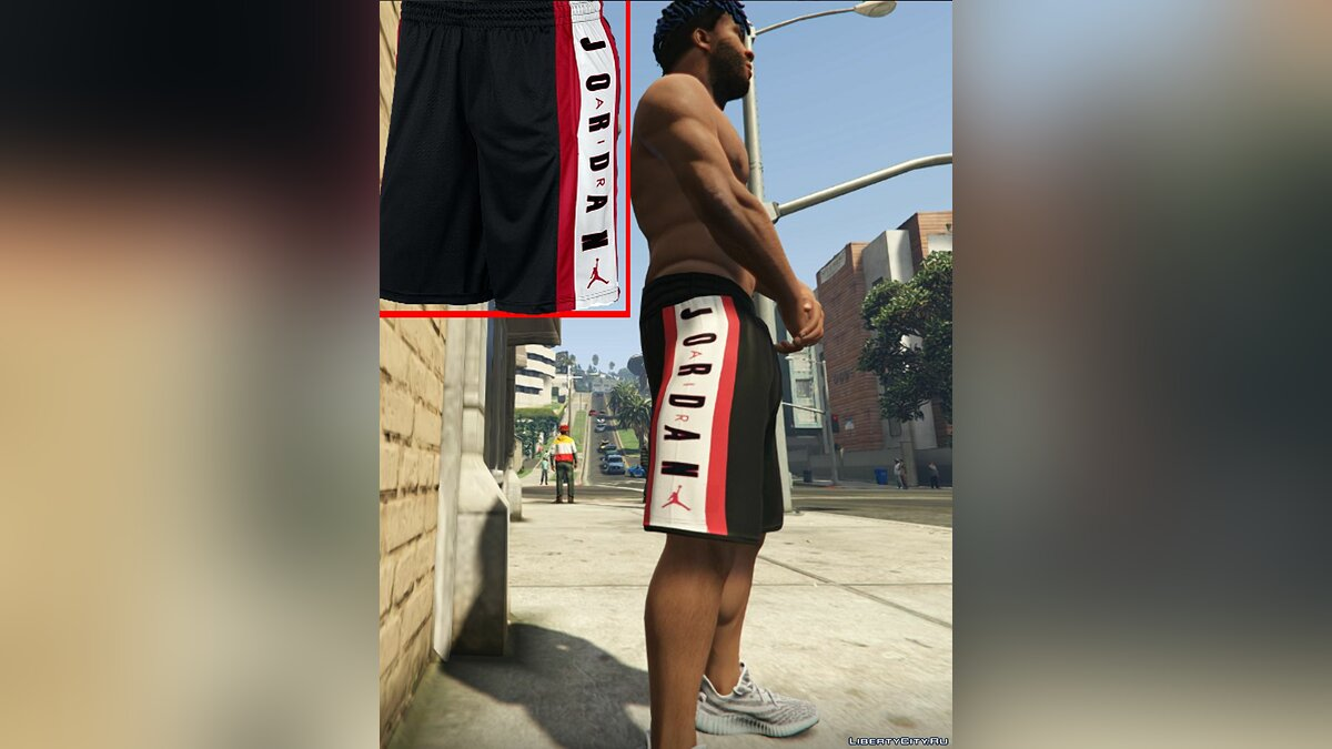 Штаны и шорты Air Jordan Breathe Rise 3 Shorts Texture v1.1 для GTA 5