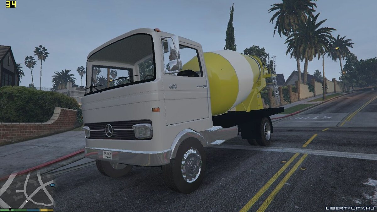 1968 Mercedes-Benz LP608 Truck Mixer 1.0.0 для GTA 5