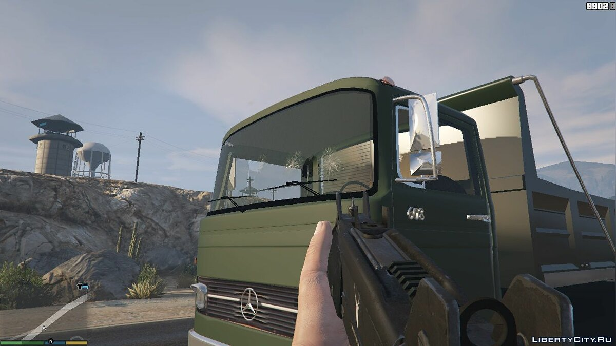 1968 Mercedes-Benz LP608 Truck Mixer 1.0.0 для GTA 5 - скриншот #5