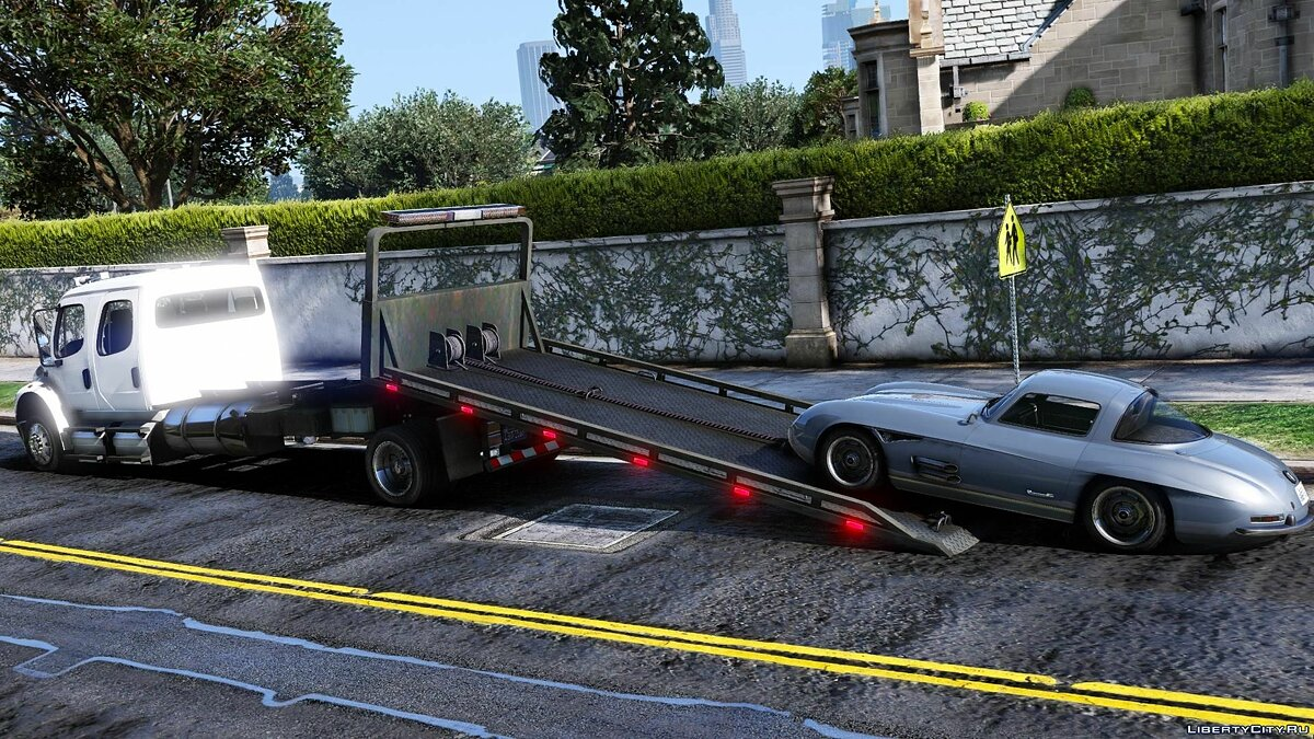 Грузовик Freightliner M2 Crew Cab Flatbed [Add-on | Script | BETA] 1.0 для GTA 5