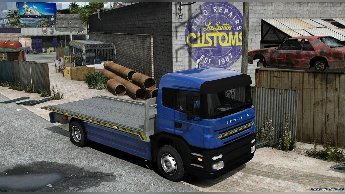 Грузовик Iveco Stralis Flatbed [UNLOCKED] [REPLACE] для GTA 5