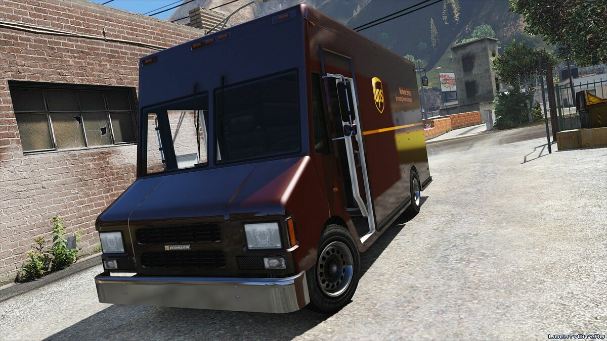 Boxville2 with Static Sliding Doors + UPS Skin 1.1 для GTA 5